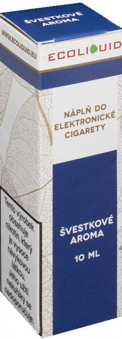 Ecoliquid Švestka 10ml 6mg