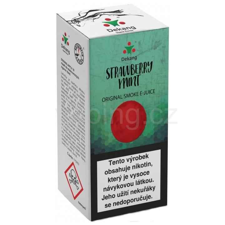 Liquid Dekang Strawberry mint 10ml - 6mg (Jahoda s mátou)