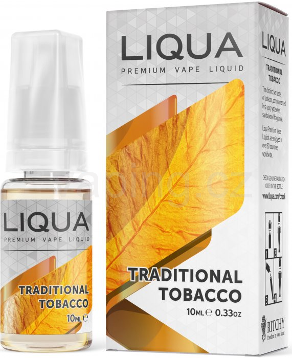 LIQUA Elements Traditional Tobacco 10ml - 0mg (Tradiční tabák)