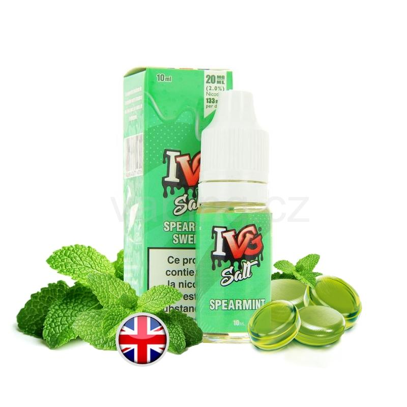 E-liquid Salt IVG s příchutí SPEARMINT SWEET (sladká máta) 10ml 20mg