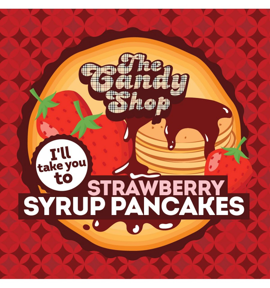 Big Mouth Candy - Strawberry Syrup Pancakes (Lívance s jahodovým sirupem)