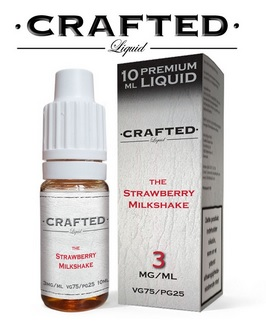 CRAFTED The Strawberry Milkshake 10ml 0mg