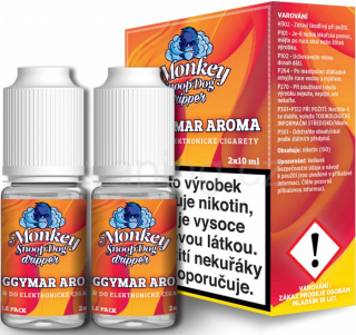 Monkey Dripper E-liquid 2x10ml (Doggymar tabák) 5mg