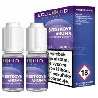 Ecoliquid e-liquid Švestka (6mg) 2x10ml