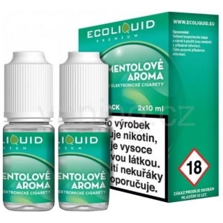 Ecoliquid e-liquid Mentol (6mg) 2x10ml