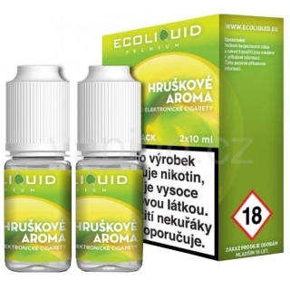 Ecoliquid e-liquid Hruška (6mg) 2x10ml