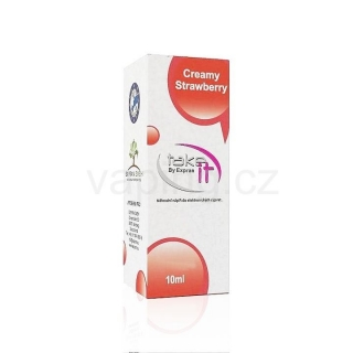 Take It e-liquid Creamy Strawberry 10ml (Jahody a smetana) 3mg