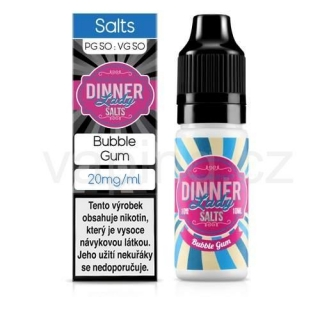 Dinner Lady Salt - Bubble Gum (sladká žvýkačka) 10ml/20mg