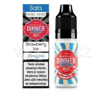 Dinner Lady Salt - Strawberry Ice (ledová jahoda) 10ml/20mg