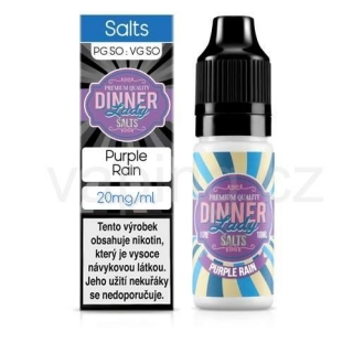 Dinner Lady Salt - Purple Rain (maliny, borůvky a citrón) 10ml/20mg