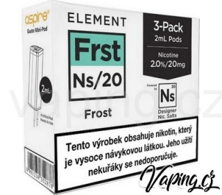 3x e-liquid Elements FROST pro Aspire Gusto Mini (3x2ml) 20mg