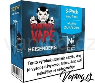 3x e-liquid Vampire Vape HEISENBERG pro Aspire Gusto Mini (3x2ml) 20mg
