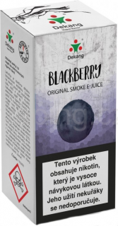 Liquid Dekang Blackberry 10ml - 6mg (Ostružina)