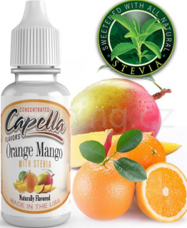 Příchuť Capella - Pomeranč a mango se stévií / Orange Mango with Stevia 13ml