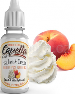 Příchuť Capella - Broskve se šlehačkou / Peaches and Cream v2 13ml
