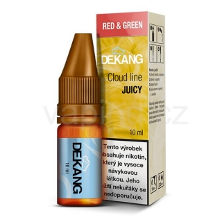Dekang Cloud Line Red and Green (Sladké a kyselé jablko) 10ml 6mg