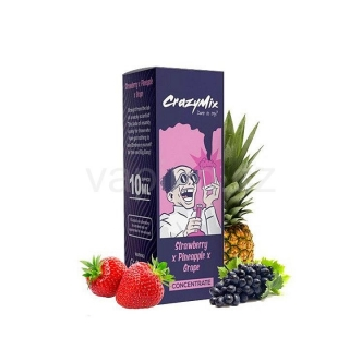 CrazyMix Strawberry x Pineapple x Grape (jahoda, ananas, hroznové víno) 10ml