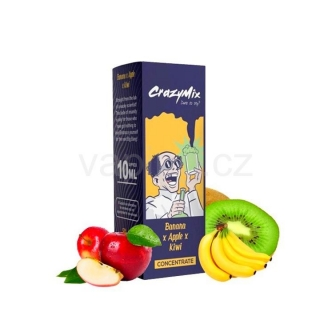 CrazyMix Banana x Apple x Kiwi (Banán, jablko a kiwi) 10ml