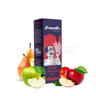 CrazyMix Red Apple x Green Apple x Pear (Jablka s hruškou) 10ml