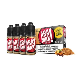 Aramax E-liquid 4x10ml (Sahara Tobacco) 3mg