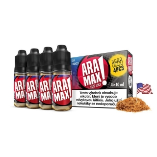 Aramax E-liquid 4x10ml (USA Tobacco) 12mg