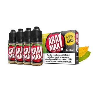 Aramax E-liquid 4x10ml (Green Tobacco) 12mg