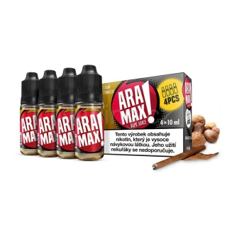 Aramax E-liquid 4x10ml (Cigar Tobacco) 3mg