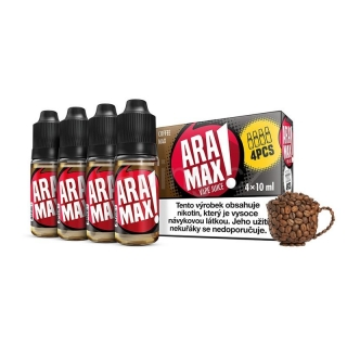 Aramax E-liquid 4x10ml (Coffee Max) 3mg