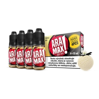 Aramax E-liquid 4x10ml (Vanilla Max) 12mg