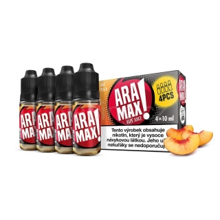Aramax E-liquid 4x10ml (Max Peach) 12mg