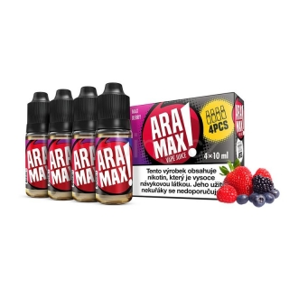 Aramax E-liquid 4x10ml (Max Berry) 3mg