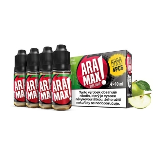 Aramax E-liquid 4x10ml (Max Apple) 12mg