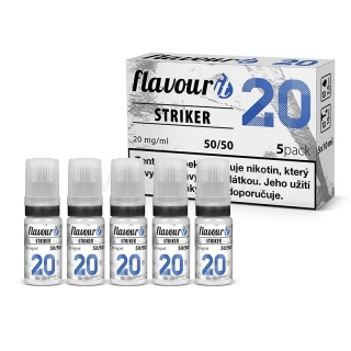 Flavourit nikotinový booster STRIKER 5x10ml (50VG/50PG) 20mg