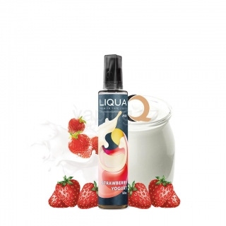 LIQUA MIX&GO příchuť Strawberry Yogurt (jahodovým jogurt) 12ml