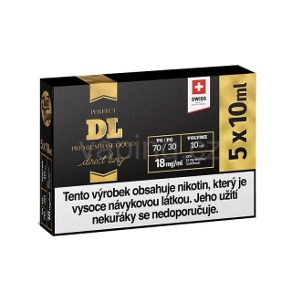 JustVape nikotinový booster DL 5x10ml (70VG/30PG) 18mg