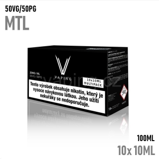 Vaping nikotinový booster MTL 10x10ml (50VG/50PG) 20mg