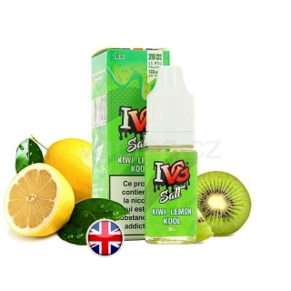 E-liquid Salt IVG s příchutí KIWI LEMON KOOL (kiwi, citrón a cooláda) 10ml 20mg