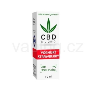 E-liquid Expran CBD, příchuť YOGHURT STRAWBERRY 600mg (6%) 10ml