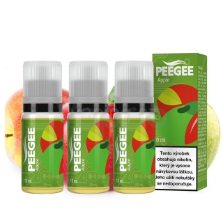 PeeGee - Apple 3x 10ml (jablko) 6mg