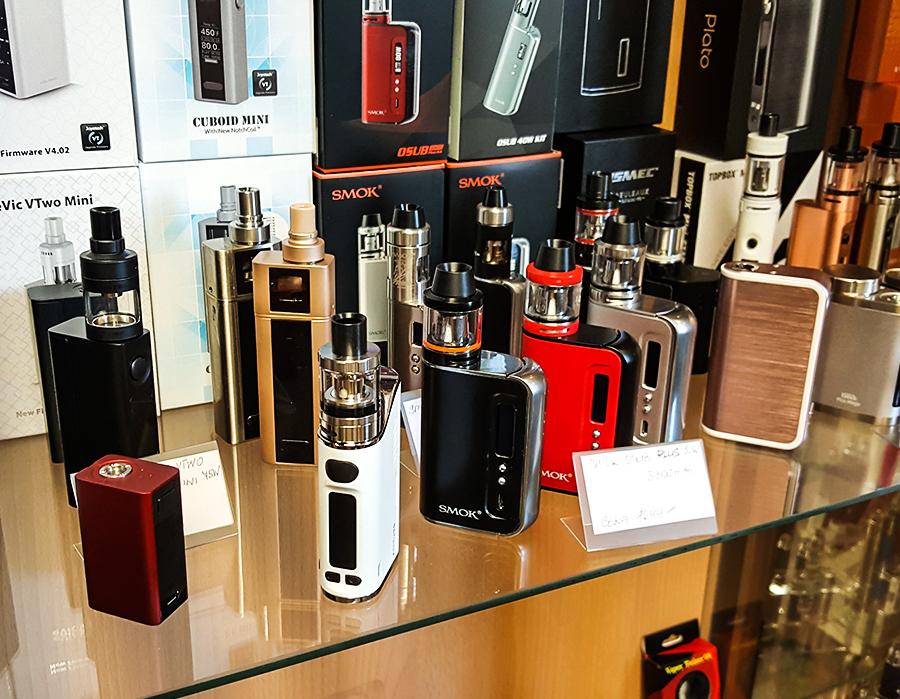 e-cigaretové gripy a dýmky